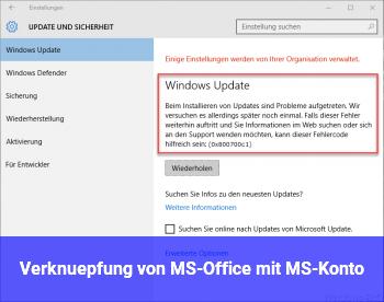 Verknüpfung von MS-Office mit MS-Konto
