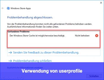 Verwendung von %userprofile%