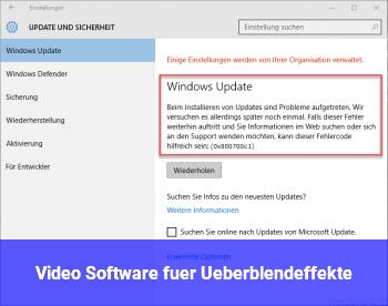 Video Software für Überblendeffekte
