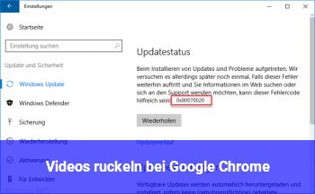 Videos ruckeln bei Google Chrome