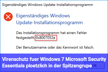 Virenschutz für Windows 7: Microsoft Security Essentials plötzlich in der Spitzengrupe