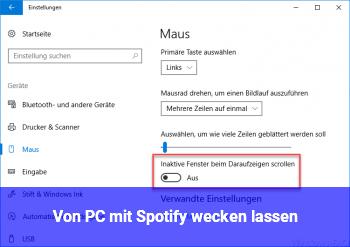 Von PC mit Spotify wecken lassen
