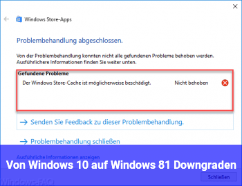 Von Windows 10 auf Windows 8.1 Downgraden