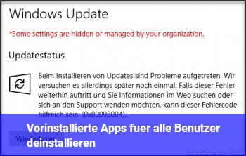 Vorinstallierte Apps für alle Benutzer deinstallieren