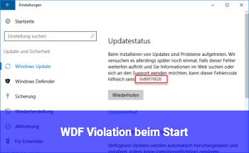 WDF_Violation beim Start