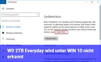 WD 2TB Everyday wird unter WIN 10 nicht erkannt