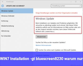 WIN7 Installation -> bluescreen… warum nur??