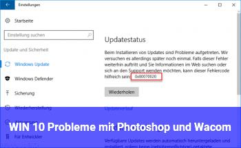 WIN 10 Probleme mit Photoshop und Wacom