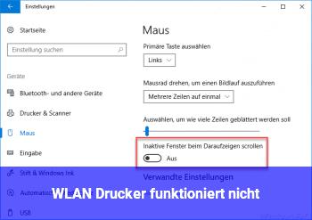 WLAN Drucker funktioniert nicht