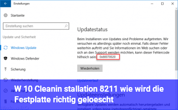 W 10 Cleanin stallation – wie wird die Festplatte richtig gelöscht?