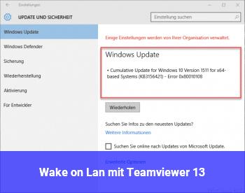 Wake on Lan mit Teamviewer 13