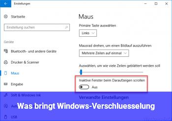 Was bringt Windows-Verschlüsselung