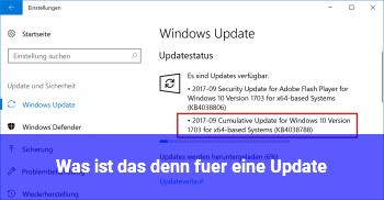 Was ist das denn für eine Update