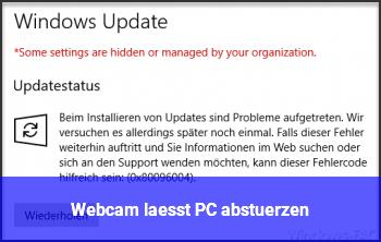 Webcam lässt PC abstürzen