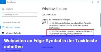 Webseiten an Edge-Symbol in der Taskleiste anheften