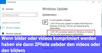 Wenn bilder oder videos komprimiert werden haben sie dann 2Pfeile übder den videos oder den bildern?