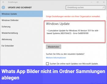 Whats App Bilder nicht im Ordner Sammlungen ablegen
