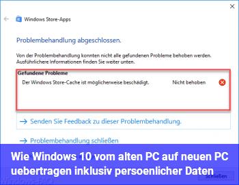 Wie Windows 10 vom alten PC auf neuen PC übertragen inklusiv persönlicher Daten?