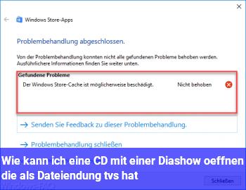 Wie kann ich eine CD mit einer Diashow öffnen, die als Dateiendung .tvs hat