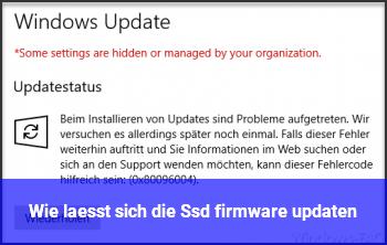 Wie lässt sich die Ssd firmware updaten ??