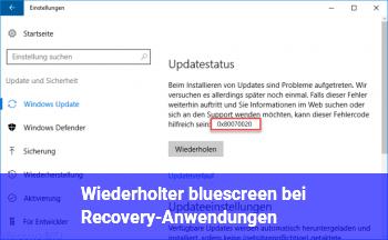 Wiederholter bluescreen bei Recovery-Anwendungen