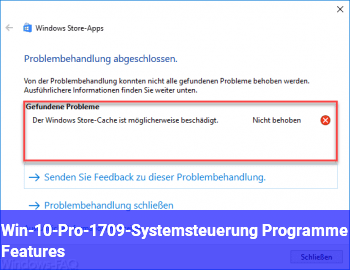 Win-10-Pro-1709-Systemsteuerung / Programme & Features