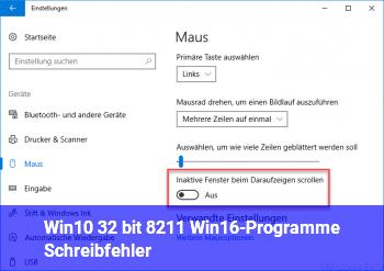 Win10 32 bit – Win16-Programme Schreibfehler