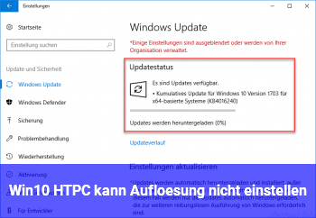 Win10 HTPC kann Auflösung nicht einstellen
