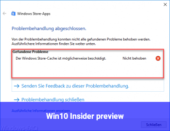 Win10 Insider preview