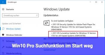 Win10 Pro Suchfunktion im Start weg!