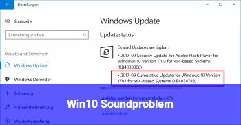Win10 Soundproblem