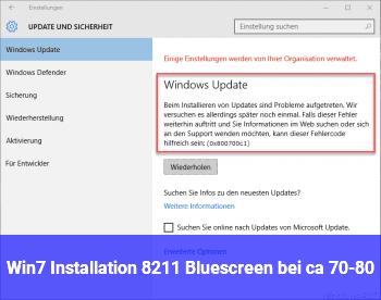 Win.7 Installation – Bluescreen bei ca. 70-80%