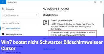 Win7 bootet nicht, Schwarzer Bildschirm/weißer Cursor!