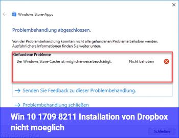 Win 10 1709 – Installation von Dropbox nicht möglich
