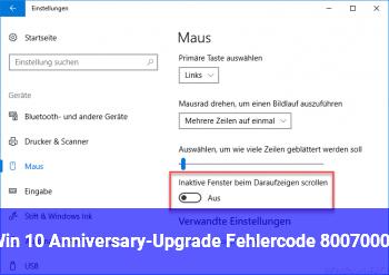 Win 10 Anniversary-Upgrade Fehlercode 80070003