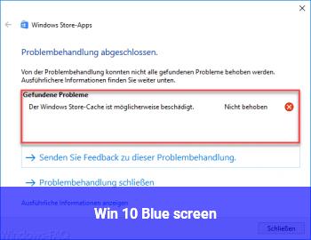 Win 10, Blue screen