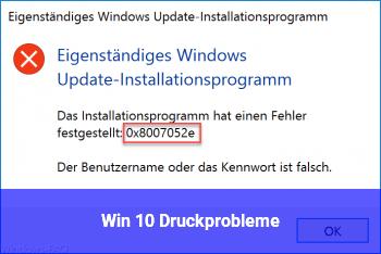 Win 10 Druckprobleme