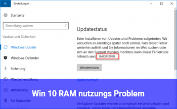 Win 10 RAM nutzungs Problem