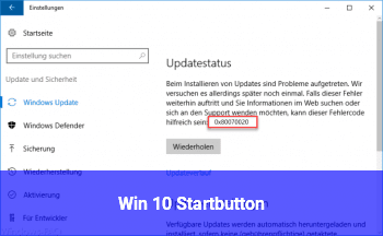 Win 10 Startbutton