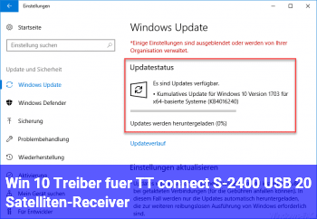 Win 10 Treiber für TT connect S-2400 USB 2.0 Satelliten-Receiver