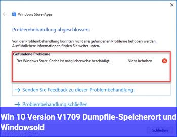 Win 10 Version V1709 Dumpfile-Speicherort und Windows.old