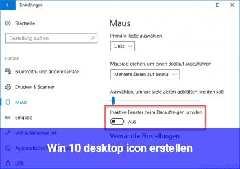 Win 10 desktop icon erstellen