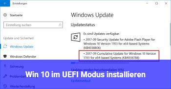 Win 10 im UEFI Modus installieren