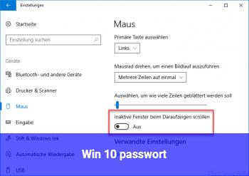 Win 10 passwort