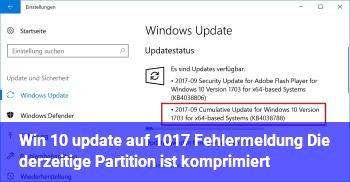 datenträgercontroller die derzeit aktive partition ist komprimiert