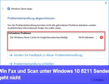 Win Fax und Scan unter Windows 10 – Senden geht nicht