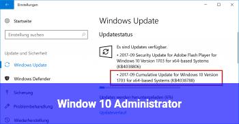 Window 10 Administrator