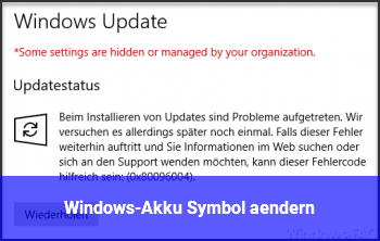 Windows-Akku Symbol ändern
