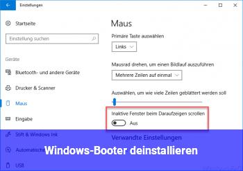Windows-Booter deinstallieren