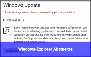 Windows-Explorer Abstürze